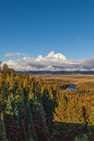 teton: Scenic Teton Fall landscape