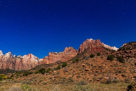Zion Landscape Under the Stars