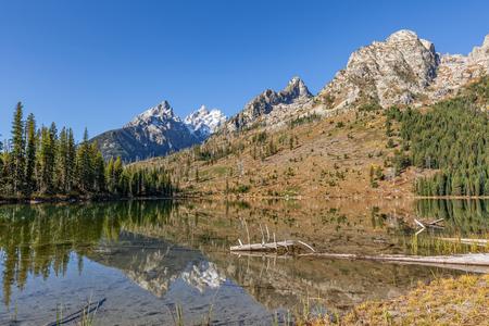 String Lake Fall Reflection Teton National Park