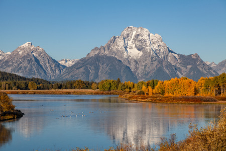 Autumn Landscape at oxbow Bend