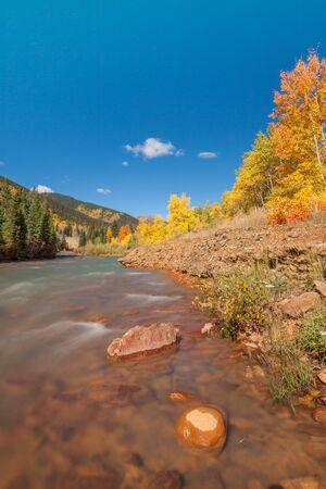 Colorado Mountain Stream in Fall Stock Photo