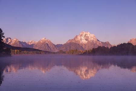 teton: Teton Fall Reflection at Sunrise