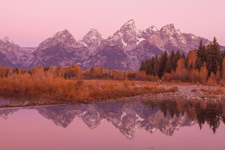 Teton Reflection at Sunrise
