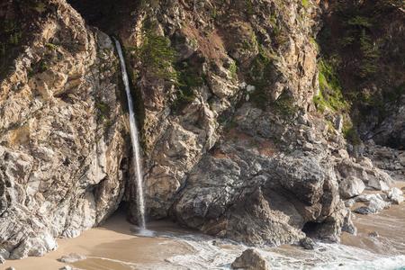 sur: McWay Falls Big Sur California Stock Photo