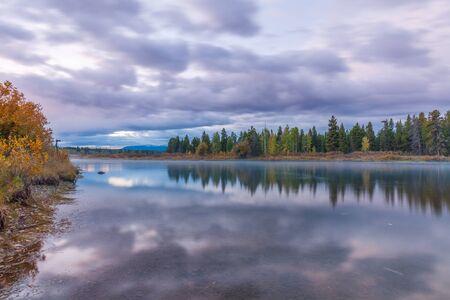 teton: Teton Fall Reflection Stock Photo