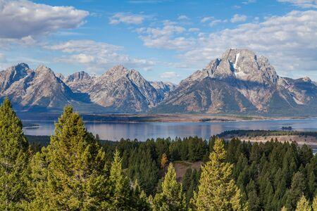 teton: Scenic Teton Landscape Stock Photo