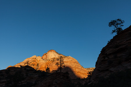 Sunrise at Zion National Park Stock Photo