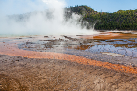 Geothermal Hot Springs Yellowstone National Park