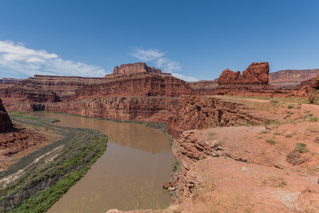 Colorado river Flowing through Canyonlands National Park Utah