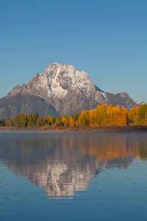 Teton Autumn Reflection Stock Photo