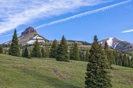 Mountain Scenic in Summer Stock Photo