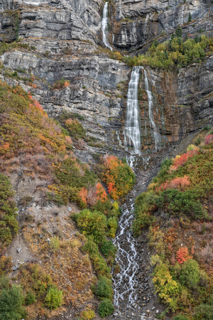 Bridal Veil Falls Utah in Autumn