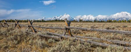 Teton Fall Landscape Panoramic Stock Photo