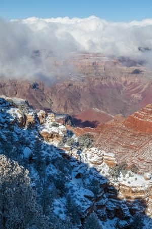 Grand Canyon South Rim Winter Landscape 写真素材
