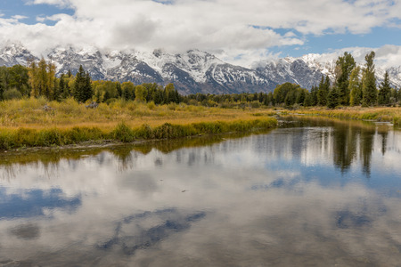 Early Autumn Landscape in the Tetons Stock Photo