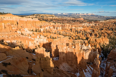 Scenic Bryce Canyon Utah in Winter Stock Photo
