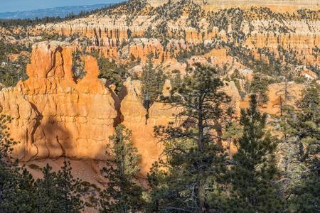 Bryce Canyon Winter Landscape Stock Photo