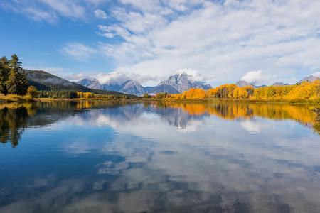 Teton Autumn Reflection at Oxbow Bend