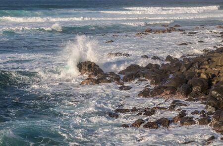 Waves Crashing the Scenic Maui Coast