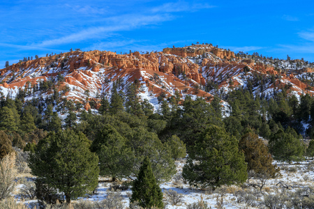 Scenic Red Canyon Utah in Winter