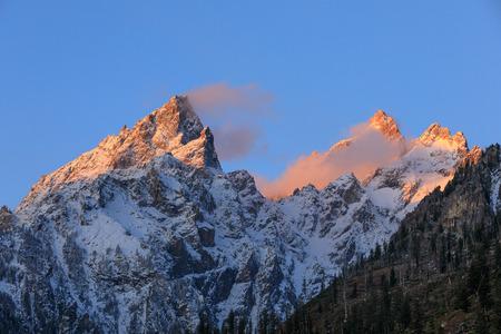 Snow Capped Tetons at Sunrise