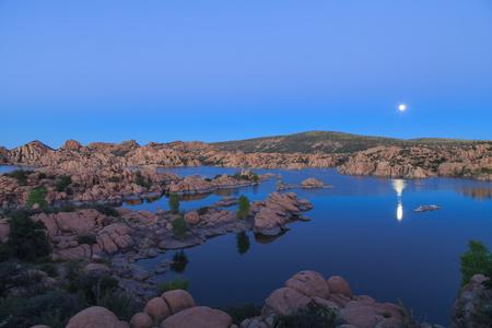 Watson Lake Moonrise