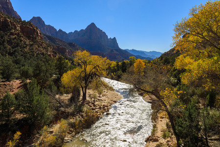 The Watchman Zion N.P. in Autumn