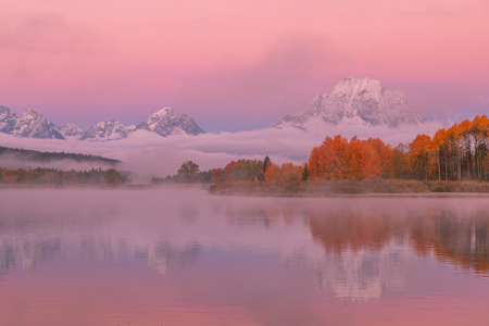 Teton Autumn Sunrise Reflection