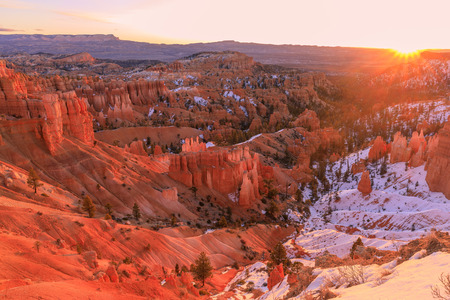 Bryce Canyon Winter Sunrise 免版税图像
