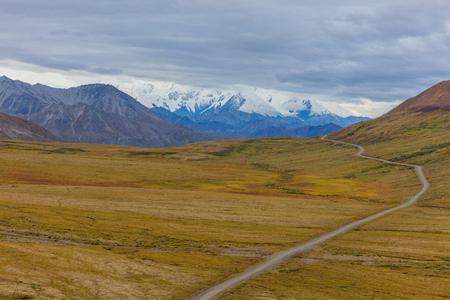 Denali National Park Alaska Autumn Landscape Фото со стока