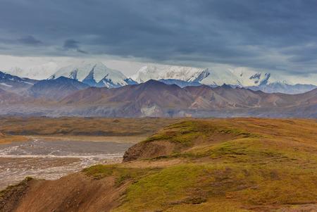 Scenic Denali National Park Alaska Landscape Фото со стока