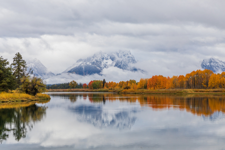 Scenic Autumn Reflection in the Tetons