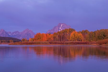 Autumn Sunrise Reflection Landscape in the Tetons
