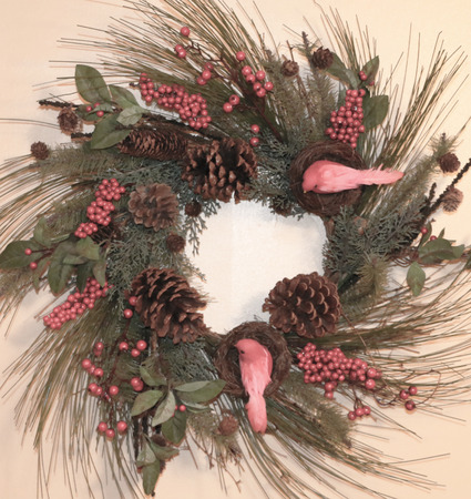 Christmas Wreath 版權商用圖片 - 49983263