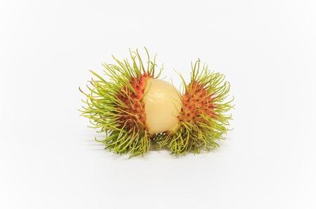 Tropical fruit Rambutan Stock Photo