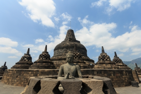 ruins is ancient: Borobudur Temple Indonesia