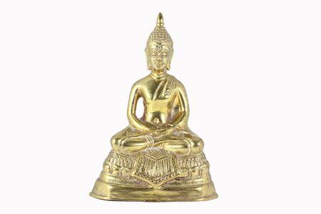 Buddha-szobor fölött fehér háttér Stock fotó