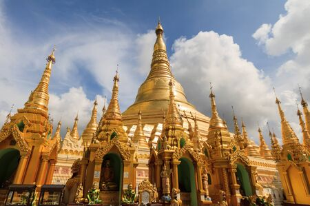Shwedagon pagoda, Myanmar Stock Photo