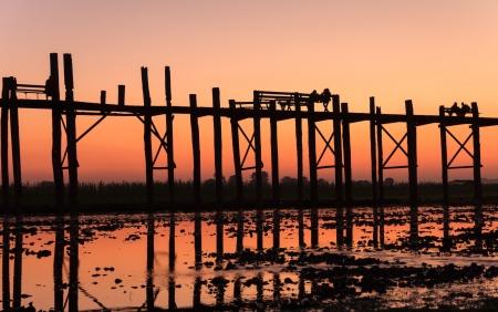 Uben bridge,Mandalay,Myanmar  Stock Photo