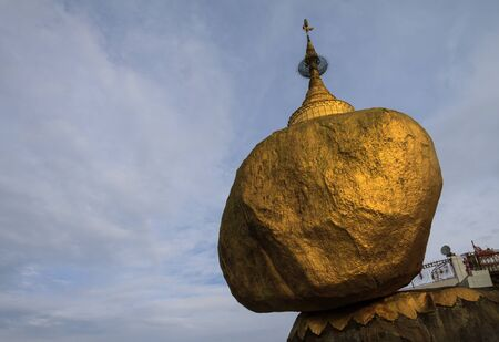 Golden rock pagoda, Myanmar Stock Photo