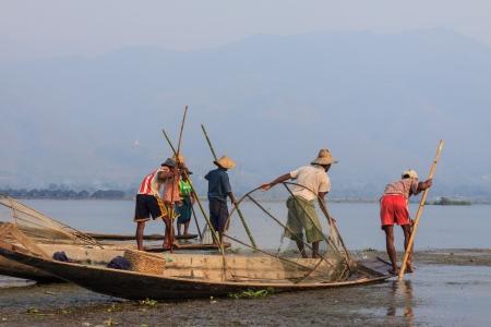 Fisher in Myanmar Stock Photo - 21417216