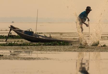 Fisher in Myanmar Stock Photo - 21417217