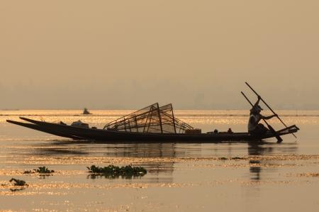 Fisher in Myanmar Stock Photo - 21417219