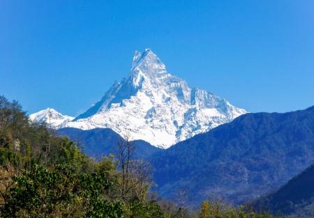 Machapuchare peak , Himalaya , Nepal Stock Photo - 22224919
