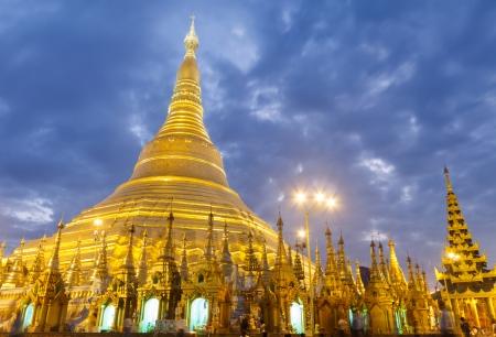 Golden pagoda the landmark of Myanmar