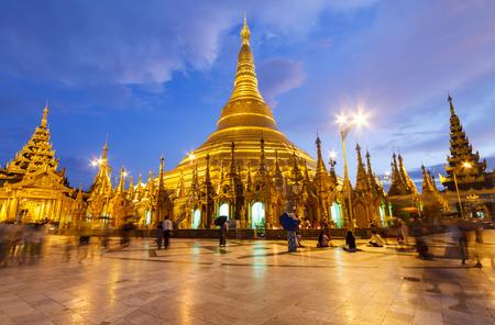 Shwedagon pagoda, Myanmar Stock Photo
