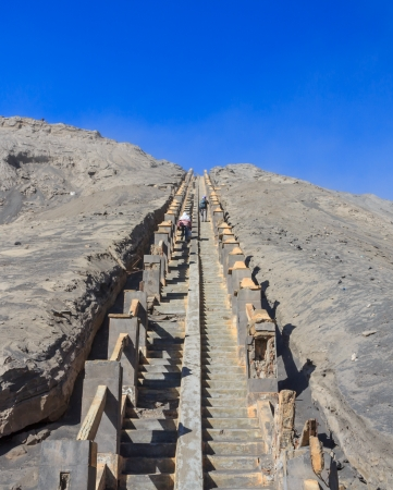 the way to the top of mount Bromo,Indonesia