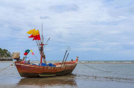 Fishing boats at the Gulf of , Prachuap Khiri Khan Province