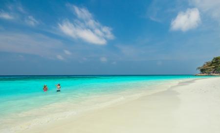 Tachai island in summer season, Thailand Stock Photo