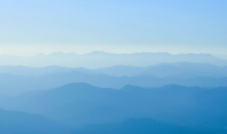 the mountain range in morning Stock Photo